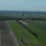 58. Éolienne après remise en état des sols